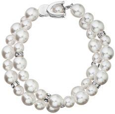 Biely perlový náramok