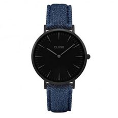 CLUSE LA BOHEME FULL BLACK & BLUE DENIM LEATHER