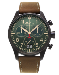 Pánske hodinky Alpina Startimer Pilot Big Date Chronograph AL-372GR4FBS6