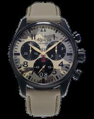 Pánske hodinky ALPINA STARTIMER PILOT BIG DATE CHRONOGRAPH DESERT CAMOUFLAGE AL-372MLY4FBS6