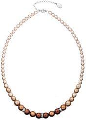 Perlový náhrdelník hnedý