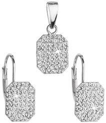 Sada šperkov s kryštálmi Swarovski náušnice a prívesok obdĺžnikové 39156.1 1bfe33c67d7