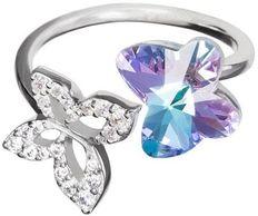 Strieborný prsteň Butterfly Harmony