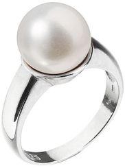 Strieborný prsteň s bielou riečnou perlou 25001.1