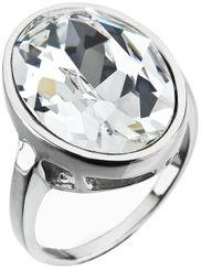 Strieborný prsteň s kryštálom Swarovski