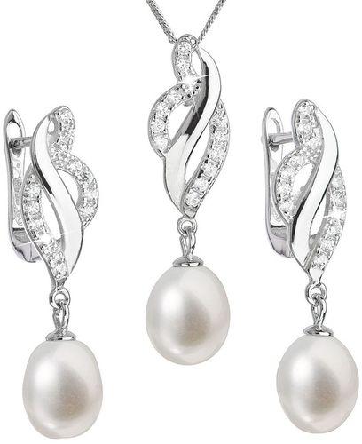 Set z riečnych bielych perál 29021.1